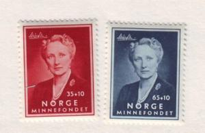 Norway ScB57-8 1956  Crown Princess Martha stamps mint