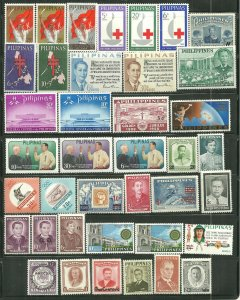 Philippines MNH 39 Stamp Mixture Sets Included SCV 12.90