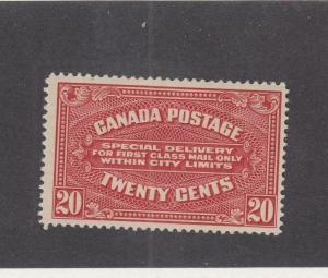 CANADA (MK90) # E2  VF-MLH  20cts  SPECIAL DELIVERY/ CARMINE CAT VALUE $150