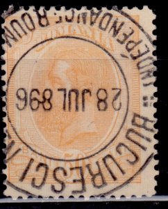 Romania, 1900, King Carol, 25b, clean cancel, used