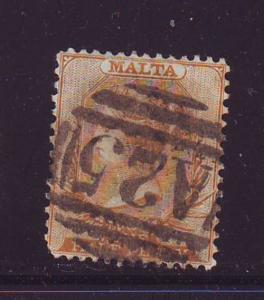 Malta Sc 6 1878 1/2d buff Victoria stamp used
