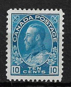 COLLECTION LOT OF # 117 CANADA 1922 UNUSED NO GUM CV = $47.50