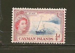 Cayman Islands 135 Cat Boat Mint Hinged