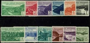 CANAL ZONE #120-31 1939 1c TO 15c 25th ANNIVERSARY CANAL ISSUES--MINT-OG/NH