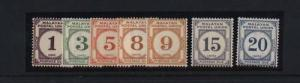 Malaya #J13 - #J19 VF Mint Rare Set
