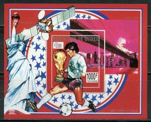 GUINEA  WORLD CUP 1994 SOCCER IMPERF SOUVENIR SHEET MINT NH