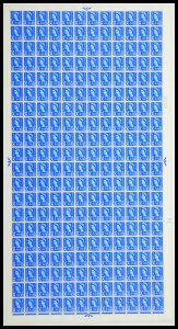 Sg XS9 4d Scotland Crowns Cyl 2 Dot Full Sheet UNMOUNTED MINT