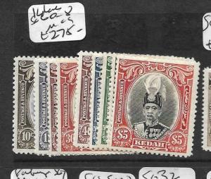 MALAYA KEDAH (P0109B) SET TO $5.00 SG60-8  MOG