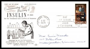 Canada 533 Insulin Rose Craft Pen FDC