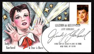 US Collins FDC SC#4077 Legends of Hollywood Judy Garland