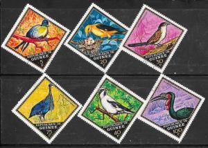 Guinea Used 582-7 Birds