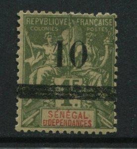 1903 Senegal overprinted 10 centimes on 1 franc mint o.g.