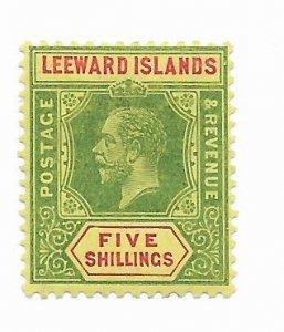 Leeward Islands #57a MH - Stamp - CAT VALUE $45.00