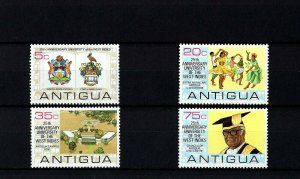 ANTIGUA - 1974 - UNIVERSITY - WEST INDIES - CAMPUS - ARMS + + MINT - MNH SET!