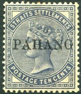 PAHANG-1889 10c Slate Sg 3 LIGHTLY MOUNTED MINT V31441