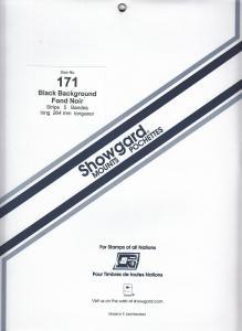 SHOWGARD BLACK MOUNTS 264/171 (5) RETAIL PRICE $14.95