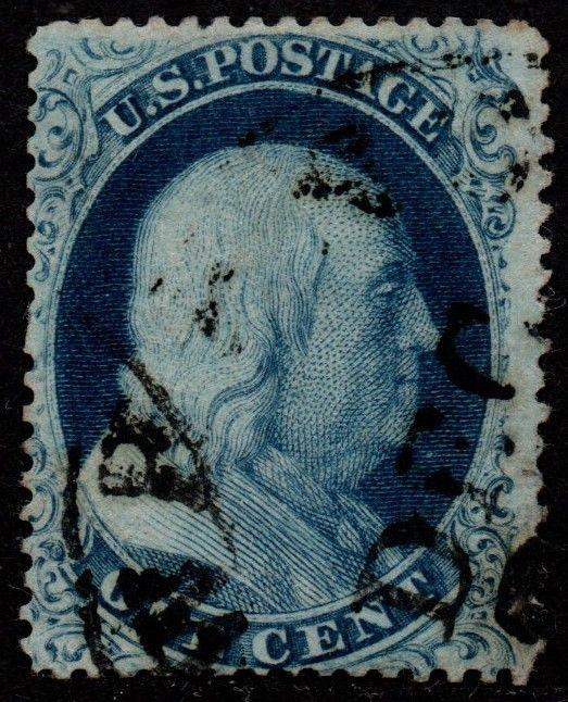 $US Sc#21 used, fine, Doporto Cert Pos. 78R4, tiny faint corner crease Cv. $1600