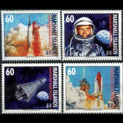 MARSHALL IS. 1998 - Scott# 671-4 Space-Glenn 60c NH