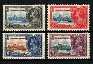 SILVER JUBILEE 1935 *Trinidad & Tobago* SET{4} KGV Stamps Mint MM ROYALTY SS3634