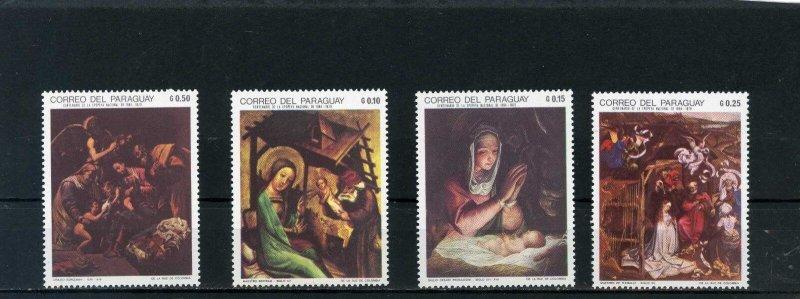 Paraguay MNH 1210-13 Christmas Paintings 1969