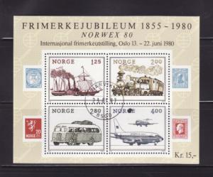 Norway 765 Set U Stamps on Stamps, NORWEX, Transportation (A