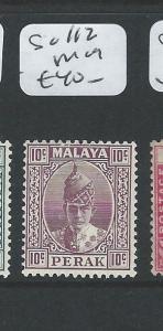 MALAYA PERAK  (P0910B) 10C BROWN   SULTAN SG 112    MOG