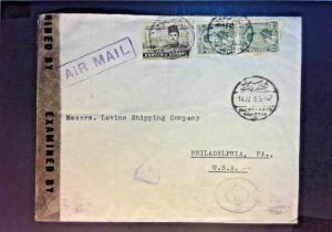 Egypt 1945 Censored Airmail Cover to USA - Z922