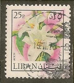 Lebanon    Scott C661    Flower   Used