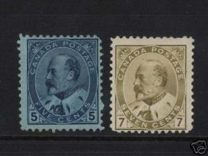 Canada #91 - #92 Mint Duo