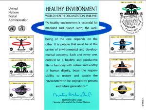 UN SC43 Healthy Environment Souvenir Card Geneva Cancel FDC