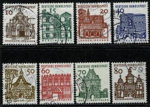 GERMANY 1964-69 CENTURIES ARCHITECTURE SET USED (VFU) P.14 SG1359-66 SUPERB