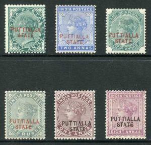 ICS PATIALA SG7/12 1885 Set of 6 M/Mint