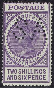 SOUTH AUSTRALIA 1904 QV THICK POSTAGE PERF SA WMK CROWN/SA