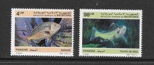 FISH - MAURITANIA #614-15  MNH