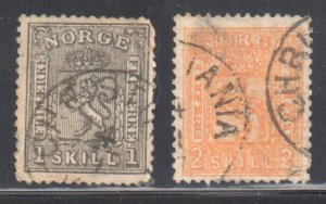 Norway #11 and 12 USED