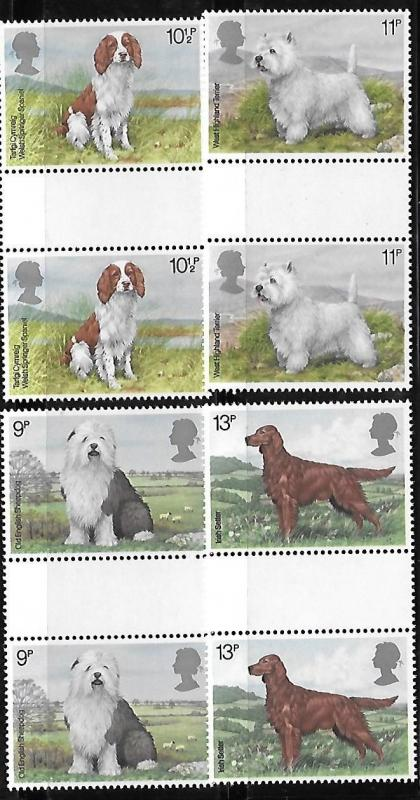 Great Britain 1979 British Dogs Gutter pair MNH A438