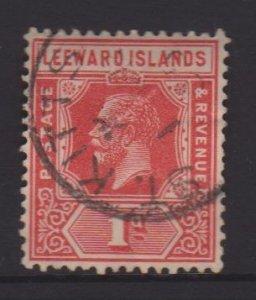 Leeward Islands Sc#48 Used Postmark St Kitts