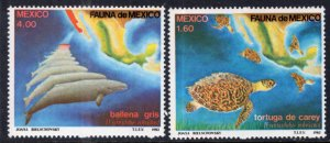 Mexico 1281-1282 Turtle Whale MNH VF