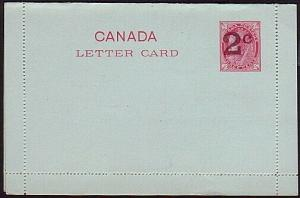 CANADA 1899 QV 2c on 3c lettercard unused..................................31721