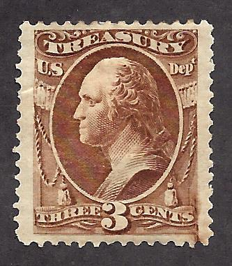 O74 Mint,OG,HR... SCV $110.00... Ink Smear lower right... Nice Centering