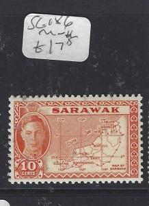 SARAWAK  (P2911B)  KGVI 10C  MAP SG 186   MNH