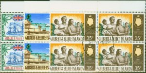 Gilbert & Ellice Is 1967 75th Anniv of Protectorate set of 3 SG132-134 Very Fine