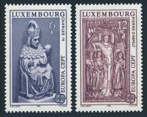 Luxembourg 609-10,MNH.Michel 967-968. EUROPE CEPT-1978,Statues.Charles IV,Aspelt