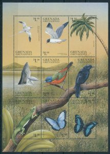 [108897] Grenada Grenadines 1999 Birds butterflies lizard whale Mini sheet MNH