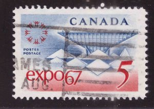 Canada Scott 469 Used stamp typical cancel Expo 67