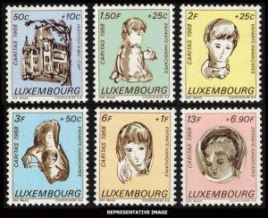 Luxembourg Scott B264-B269 Mint never hinged.