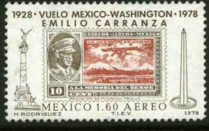 MEXICO C569 50th Anniv of the Flight of Emilio Carranza MINT, NH. VF.