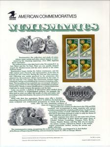 US CP369 Numismatics 2558 Commemorative Panel Mint