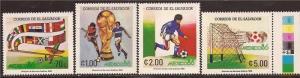 El Salvador - 1986 World Cup Soccer - 4 Stamp Set MNH #1095-8