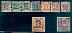 Burma #O28//O42  Used  Scott $150.05
